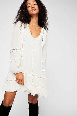 "Free People Mini Dress ""Snow Angel"" Boho-Chic"