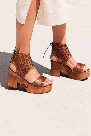 "Bed Stu Platform Clog Sandals ""Mollie"""