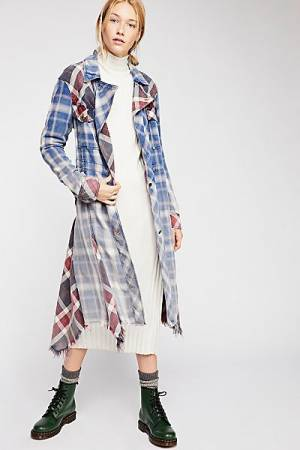 "Free People Shirt Jacket ""Swing Plaid"""