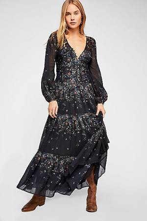 "Free People Maxi Dress ""All Eyes On You"" Boho-Chic"