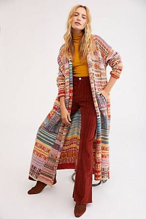"Free People Sweater Coat ""Met Your Match"" Knitwear"