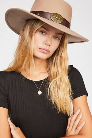 "Free People Felt Hat ""Sausalito"" Boho Accessories"