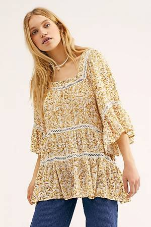 "Free People Boho Top ""Talk About It Tunic"""