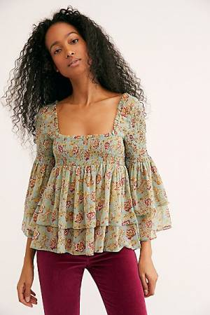 "Free People Boho Top ""Golden Age"" Blouse"