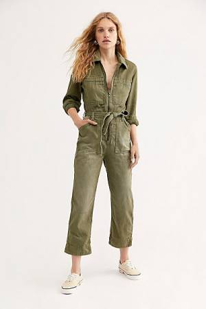 "Free People Denim Coveralls ""Charlie"""