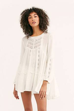 "Free People Tunic Mini Dress ""Kiss Kiss"""