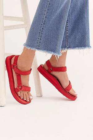"Teva Sandals ""Red Midform"""