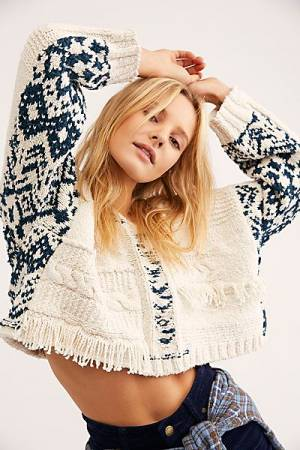 "Free People Knit Sweater Hoodie ""Hideout"""