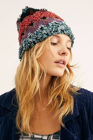 """Free People knit Beanie Hat """"Northway Space Dye"""""""