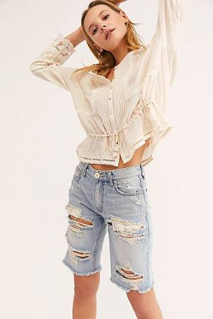 "Free People Denim Shorts ""Caroline Cutoffs"""