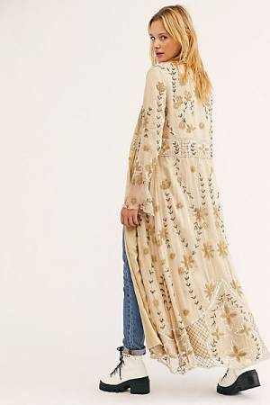 "KAS New York Bohemian Duster Coat ""Enchanted Forest"""