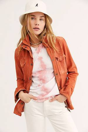 "Free People Suede Shirt Jacket ""Kimberly"""