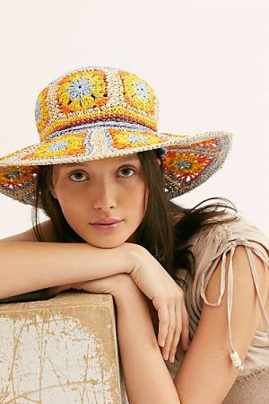 "Free People Straw Hat ""Summer Of Love"""