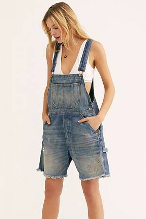 "NSF Denim Shortalls ""Crystal"" Short Overalls"