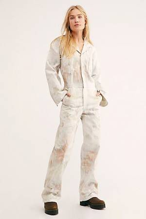 Slouchy Tie Dye Flight Suit Overall