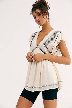 "Free People Top ""Falling Water Tunic"""