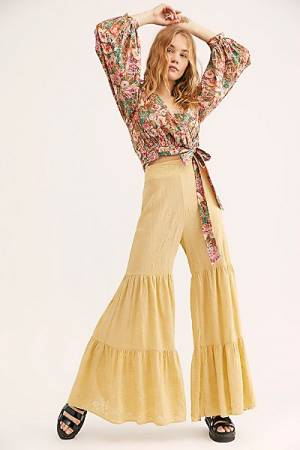 """Free People Pants """"Embroidered Tiered"""""""