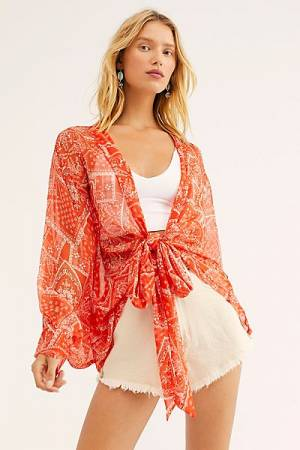 "Free People Kimono ""Golden Hour Top"""