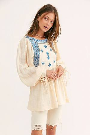 "Free People Bohemian Top ""Bali Birdie"""