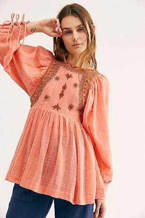 "Free People Peasant Top ""Bali Birdie"""