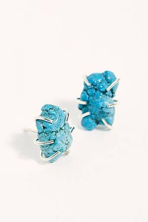 Melissa Joy Manning Raw Turquoise Stud Earrings