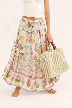 "Spell Maxi Skirt ""Wild Bloom"""