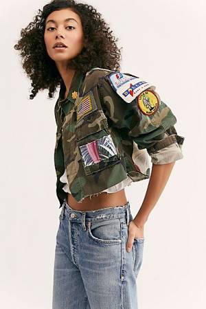 """Riley Vintage Camo Jacket """"Florist"""""""