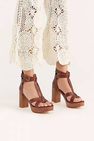 "Free People Platform Sandals ""Party All Night"""