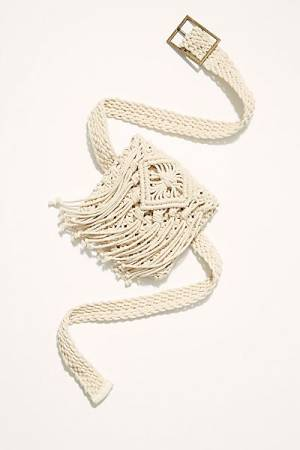 "Free People Belt Bag ""Beach Flower Crochet"""