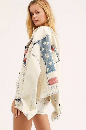 "Blank NYC Denim Jacket ""Patriotic"""