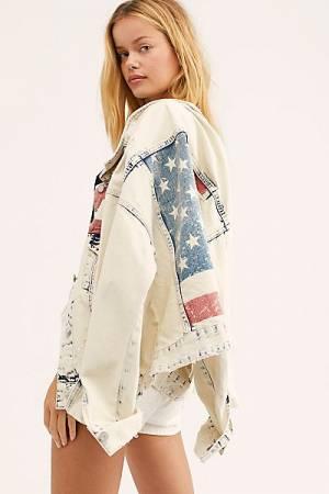 """Blank NYC Denim Jacket """"Patriotic"""""""
