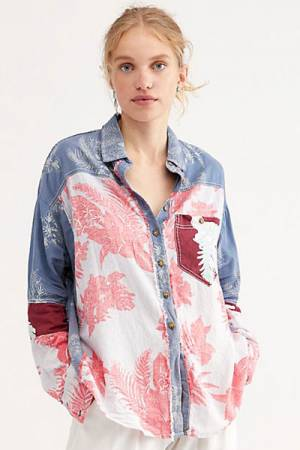 "Free People Shirt ""Chasing Waves"""