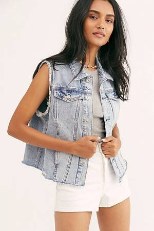 "Free People Denim Vest ""Zoe"""