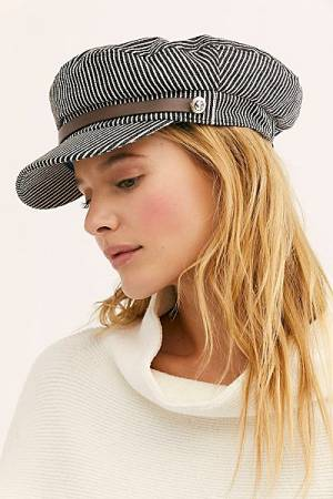 "Free People Lieutenant Hat ""Stripe"""