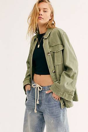 "Free People Shirt Jacket ""Avery"""