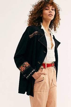 Brenda Knight Suede Shirt Jacket