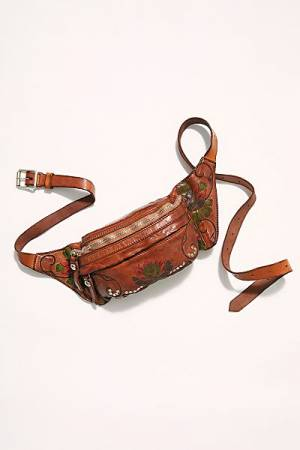 "Campomaggi Crossbody Belt Bag ""Lotus Floral"""