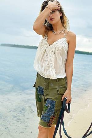 """Free People Cargo Shorts """"Patchwork"""""""