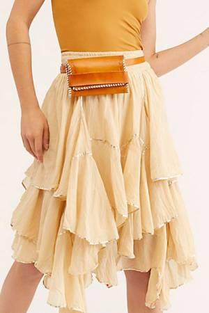 "Free People Midi Skirt ""Ruffles"""