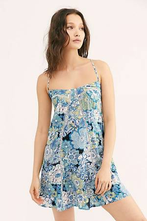 "Free People Mini Dress ""Floral Marine"""
