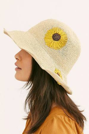 "Free People Straw Hat ""Daisy"""