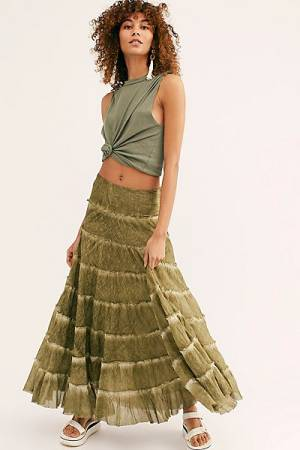 Free People Tiered Maxi Skirt