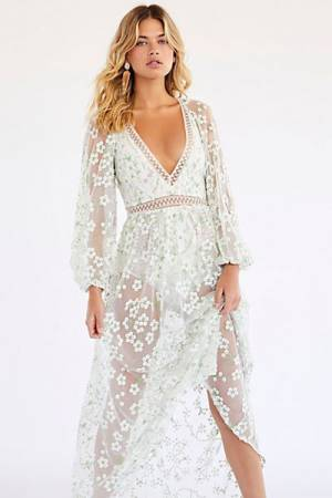 "For Love & Lemons Maxi Dress ""Eclair"""