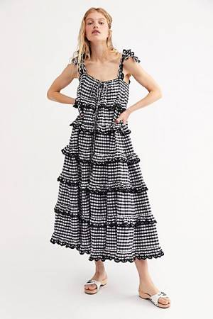 "Innika Choo Maxi Dress ""Gingham"""