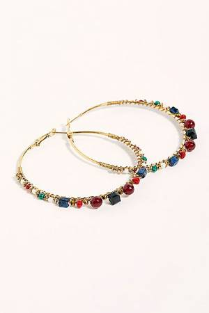 "Free People Hoop Earrings ""Stone"""