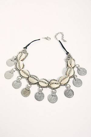 "Free People Necklace ""Coins & Shells"""