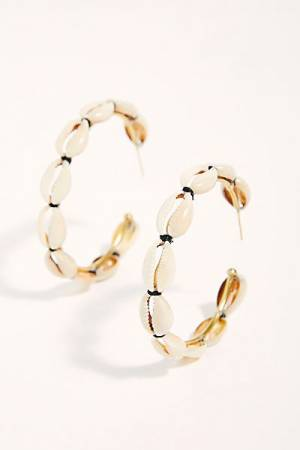 Lena B. Shell Hoop Earrings