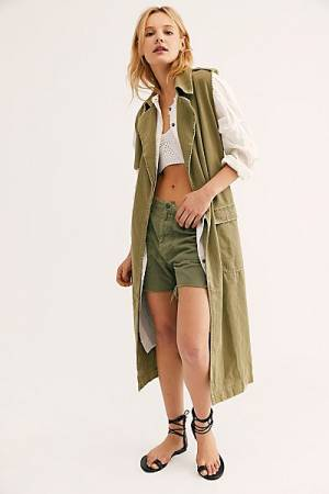 """Free People Vest Trench """"Agent"""""""