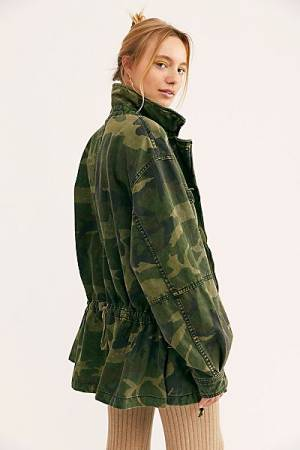 "Free People Camo Jacket ""Seize The Day"""
