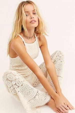 """Free People Crochet Jumpsuit """"Moon Bay"""""""